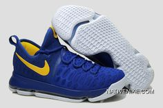 "4b89e6d2a5b4 Discount Nike KD 9 ""Golden State Warriors"" Blue Yellow White"