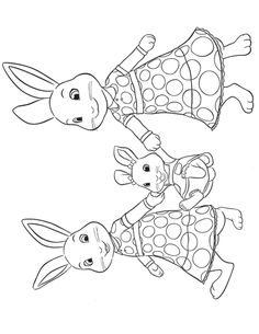 Peter Rabbit Lily Coloring Pages