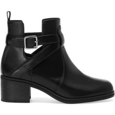 Pull & Bear High Heel Cut-Out Ankle Boots ($33) ❤ liked on Polyvore featuring shoes, boots, ankle booties, sapatos, chaussures, black, black high heel booties, black booties, black cut out booties and black bootie