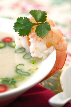 Thai Hot and Sour Shrimp Broth (with or without shrimp balls)