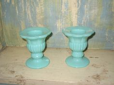Turquoise Candle Holders by TheVintageScavenger on Etsy, $25.00