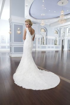 A classic and romantic wedding gown .