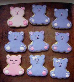 Simple bear cookies wilton cutters