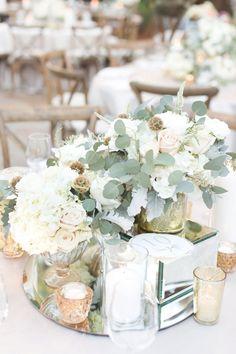 Wedding Color Trends 45 Neutral Spring Wedding Color Ideas - Wedding centerpiece with blush and green floral - Neutral Wedding Flowers, Spring Wedding Colors, Floral Wedding, Wedding Bouquets, January Wedding Colors, Plum Wedding, Flower Bouquets, Modest Wedding, Elegant Wedding