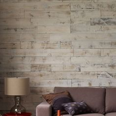 Stikwood Adhesive Wood Paneling. Love this look!Just saw this in an Oakland Hills home