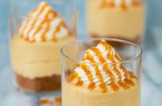 No Bake Pumpkin Cheesecake  Instead of a traditional graham cracker crust, crushed Biscoff cookies are layered on the bottom.