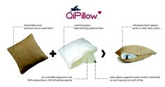 It's pretty and it works.  The QiPillow is available on Amazon.  We design products to help you maintain a healthy/pain reduced, spine. Visit www.bodyryzm.com
