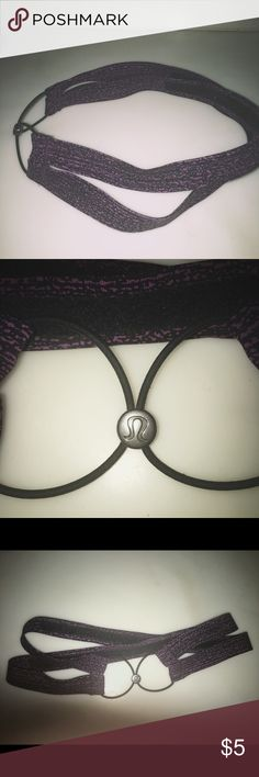 Lululemon Flyaway Tamer Purple Marble Headband This super cute headband has two parts to it that makes it customizable for your specific head shape.   Non-slip, comfortable, and sweat proof material. lululemon athletica Accessories Hair Accessories