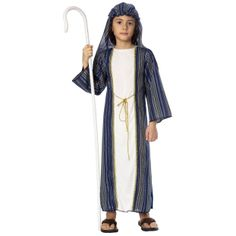 Kids Deluxe Shepherd Costume - Christmas Costumes - somebody needs to come as Jesus Costume Christmas, Christmas Suit, Nativity Costumes, Boy Costumes, Costume Ideas, Shepherd Costume, Fancy Dress, Dress Up, Biblical Costumes