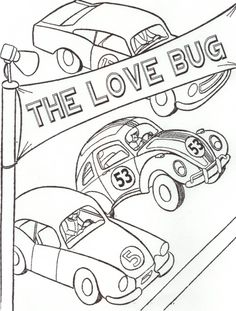 Bug Car Coloring Pages Coloring Pages