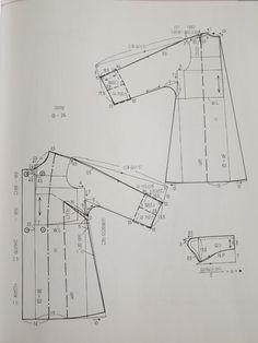원단/짜투리/바느질/미싱/아이디어/퀼트/소잉/ | 밴드 Japanese Sewing Patterns, Dress Sewing Patterns, Blouse Patterns, Sewing Patterns Free, Clothing Patterns, Cape Pattern, Jacket Pattern, Sewing Blouses, Sewing Pants