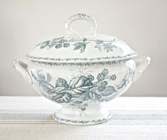Ironstone Tureen by BeyondTheBrocante on Etsy