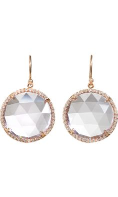 Rose of France & Diamond Drop Earrings by Irene Neuwirth #Earrings