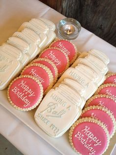 Mason Jar Party Cookies #cookies #masonjar #birthdayparty #party