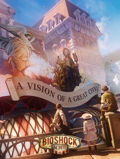 ArtStation - Marketing Screenshot Examples , Digital Frontiers Bioshock Series, Boxer Rebellion, Bioshock Infinite, Marketing, Digital, City, Irrational Games, Movie Posters, Videogames
