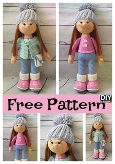 Diy Crafts - freepattern-Adorable Crochet Molly Doll – Free Pattern crochetdoll freepattern All little girls love little dolls, especially if they a Crochet Gifts, Cute Crochet, Crochet Toys, Crochet Baby, Crochet Dolls Free Patterns, Crochet Doll Pattern, Easy Crochet Slippers, Crochet Shark, Little Doll