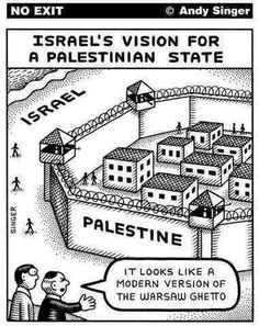 Israel's vision for a Palestinian State. It does look like a modern version of the Warsaw Ghetto which frankly is what Gaza looks like now.