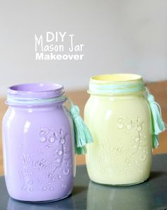 Transform a clear mason jar into a custom decor piece with Martha Stewart Acrylic Paint and Aunt Lydia's Crochet Thread. You can match any room in your home! Discount Craft Supplies | Up to 70% Off | Blitsy.com