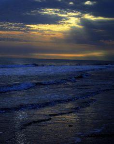 Winter sunset Ocean Isle Beach NC