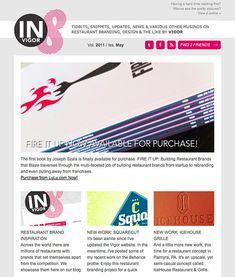 E-newsletter email design for VIGOR, via Design Bump.