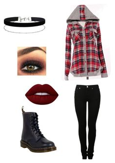 """Rocker Style"" by landsandvalleys ❤ liked on Polyvore featuring Miss Selfridge, MM6 Maison Margiela, Dr. Martens, Lime Crime, rockerchic and rockerstyle"