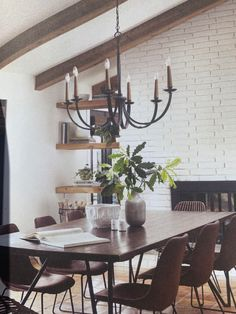 Dining Room, Dining Table, Architecture Design, Sweet Home, Chandelier, Ceiling Lights, Furniture, House Ideas, Home Decor