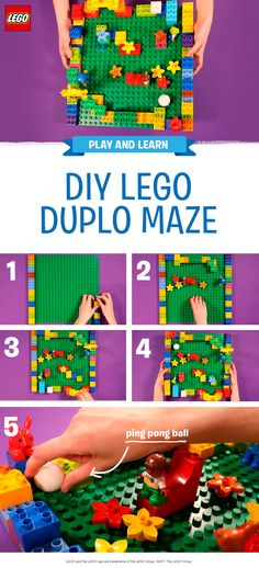 All you and your little one need to create this fun maze challenge is a LEGO DUPLO baseboard, a ping pong ball (or any ball which is a safe size for a pre-schooler), some LEGO DUPLO bricks, and lots of imagination. You can make this game very simple for young children, or a little more challenging for older children. Encourage them to build dead ends, bridges and barriers, and decorate their maze in the coolest way possible. As long as you build a start and a finish point, the sky is the…