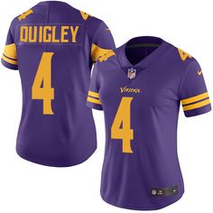 Women's Nike Minnesota Vikings #4 Ryan Quigley Limited Purple Rush NFL Jersey