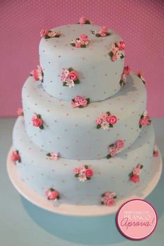 Cath Kidston cake- I saw this and thought of you Gorgeous Cakes, Pretty Cakes, Cute Cakes, Amazing Cakes, Cath Kidston Cake, Cake Cookies, Cupcake Cakes, Mini Cakes, Buffet Party