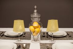 Classiq Yellow | Wine Glass Shades fit over any standard 12-16 oz (sometimes up to 18oz) wine glass to bring instant elegance to any dinner table, event, wedding or party. Simply drop in the water-activated floating LED candle & enjoy! Includes 4 shades & 4 candles.  Expandables.ca
