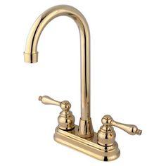Magellan Centerset Bar Faucet with Victorian Lever Handles