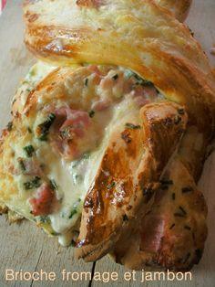 Brioche salée au fromage et au jambon