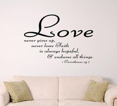 bible verse wall art Love by SignGuysAndGal on Etsy, $19.00    This is my favorite chapter in the Bible