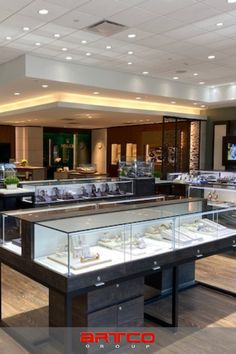 "Manufacture & Design of Store Fixtures by Artco Group. ""The only way to do great work is to love what you do"" #RetailDesign #StoreDesign #StoreFixtures Jewelry Store Design, Jewelry Stores, Retail Store Design, Store Fixtures, Group, Home Decor, Souvenir, Bijoux, Decoration Home"