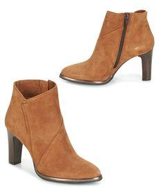 bffbb1cf3d86c0 Leder-Stiefeletten in Cognac-Farbe – Damen Bekleidung – Pelour – MYMA