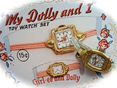 Vintage Antique Tin Toy Watch.. I remember these.   O remember these!!