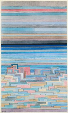 Paul Klee, Lagunenstadt (Lagoon City), 1932. Watercolor. Via Phaidon
