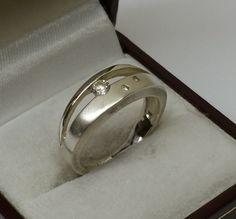 Vintage Ringe - Ring Silber 925 Kristallsteinchen Vintage SR265 - ein Designerstück von Atelier-Regina bei DaWanda