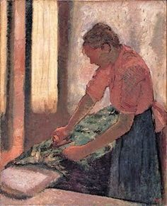 1870s Edgar Degas (French painter, 1834–1917) Woman Ironing