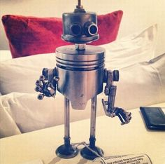 metal art from car parts | ... metal robots made from scrap metal car and motorcycle parts but what