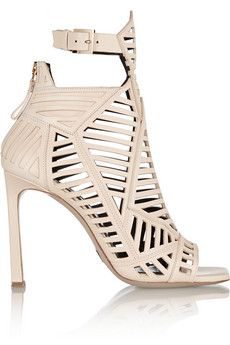 Daniele Michetti Cutout leather sandals   NET-A-PORTER