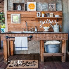 The Outdoor Kitchen Sink.... this DIY project is still one of my favorites and is just about cleaned up for a third year of summer entertaining, yay! I changed it up with a few new and old accessories.