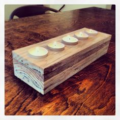 DIY Tea Light Candle Holder Made From Wood Pallets