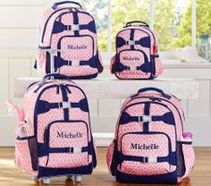 Pottery Barn Kids: Mackenzie Pink Moroccan Geo Backpack, Small or rolling