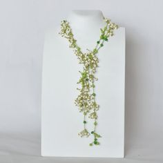 Jewelry Necklace Long Necklace White Necklace Wrap by Cardoucci