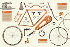 Bicycle infographic by Chiara Noseda, via Behance