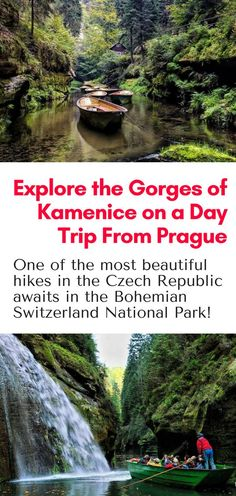 Day Trips from Prague - All the reason why you should explore the Gorges of Kamenice, one of the most beautiful destinations in the Bohemian Switzerland National Park, on a day trip from Prague Czech Republic! #hiking #europe