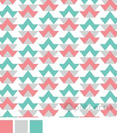 Teal and Pink Geometric (seamless, repeating) pattern design. ©ankepanke http://iheartpatterns.nl