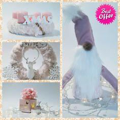 Pink christmas decors.   #pink #christmascountdown #christmasdecor #xmas #xmasgift #pinkdecor Tea Light Candles, Tea Lights, Pink Christmas, Xmas, Felt Bookmark, Make Your Own, Make It Yourself, Door Wall, Liquor Bottles