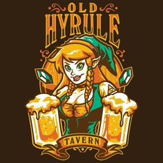 A little geeky but cool....    Link The Bar Wench Serves Drinks At The Old Hyrule Tavern [T-Shirt]